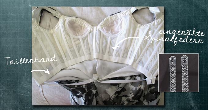 Korsage mit Spiralfedern in einem Haute Couture Kleid von Oscar de la Renta