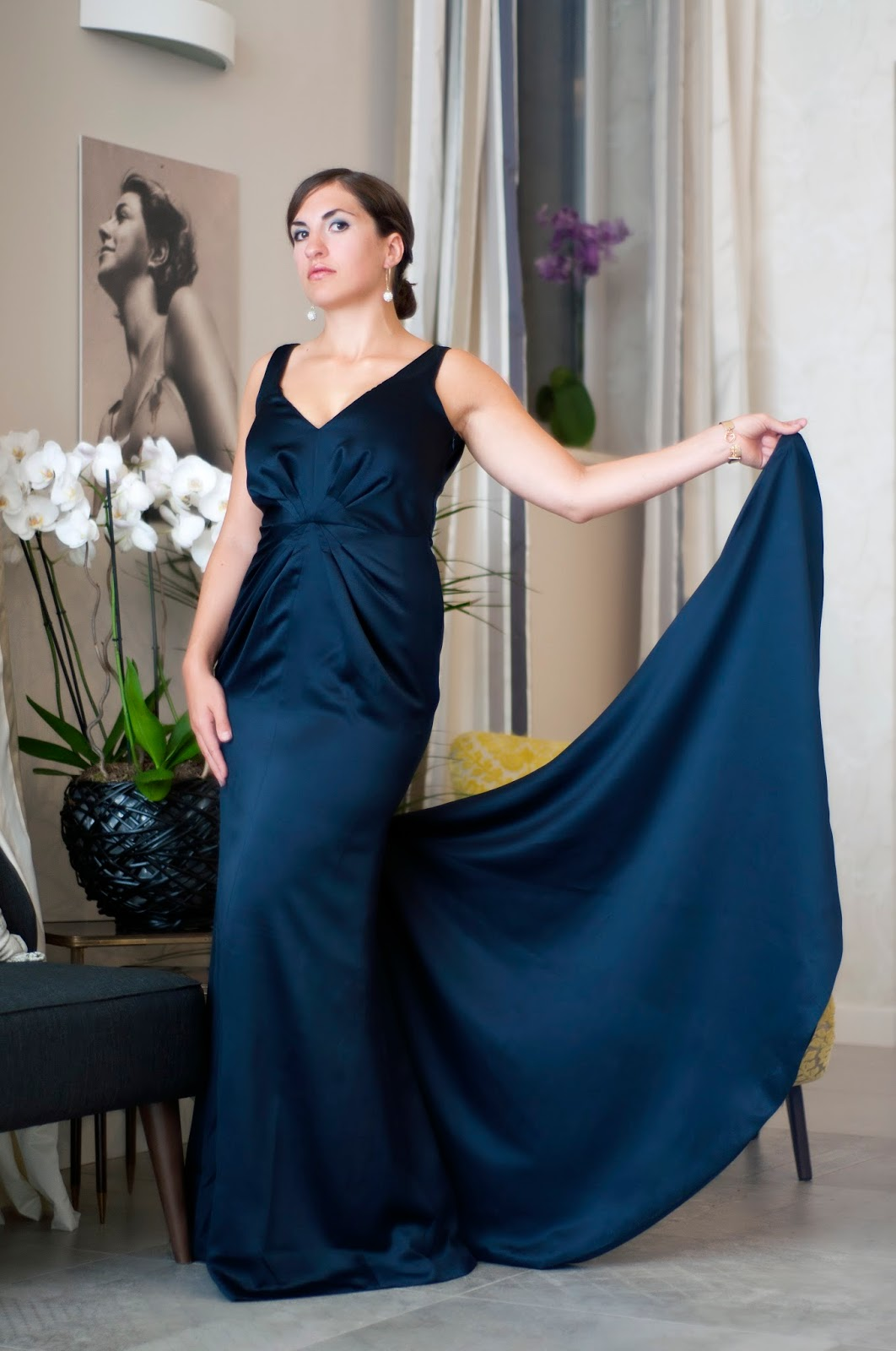 Schnittmuster Abendkleid - Burda Style #124 11/2011