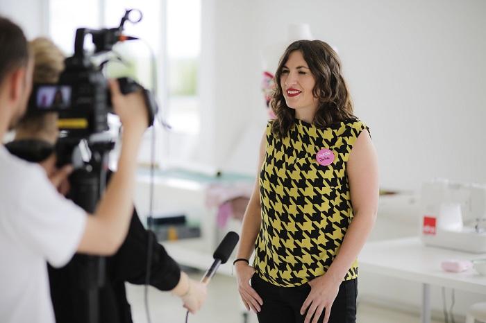 Interview geben gehörte dazu wie das Nähen beim burda style Talent Finale