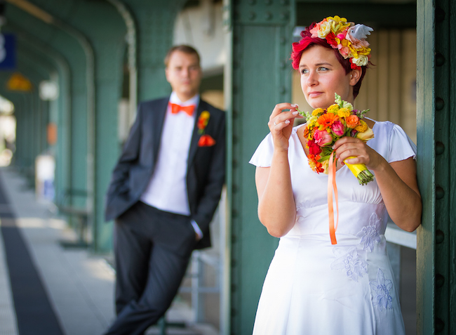 Ein selbstgenähtes Brautkleid aus traumhafter Seide – Julia Jamei