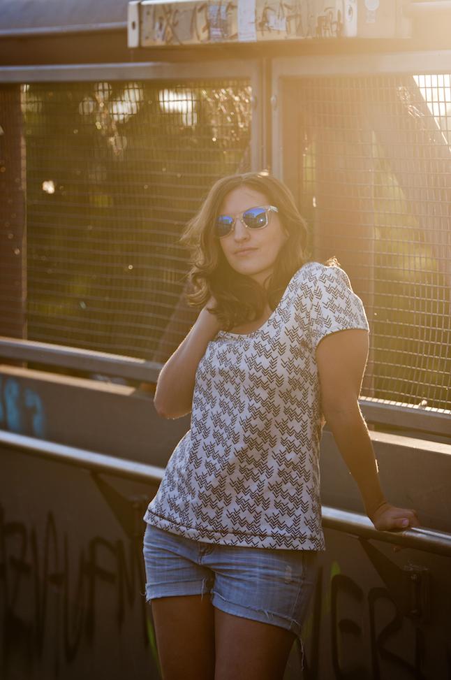 ein schnelles T-Shirt kann man auch ohne Schnittmuster nähen