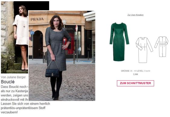 Featured by burda style - Thema Bouclé