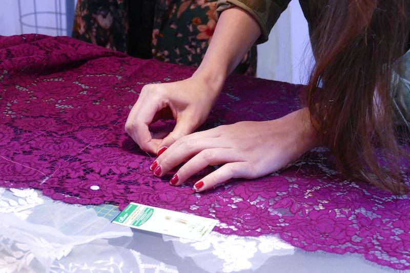 Haute Couture Nähtechniken - Das Zuschneiden von Spitze